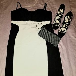 Torrid Black and White Body Slim Dress
